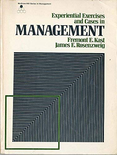 9780070333437: Experimental Exercises and Cases in Management (McGraw-Hill series in management)