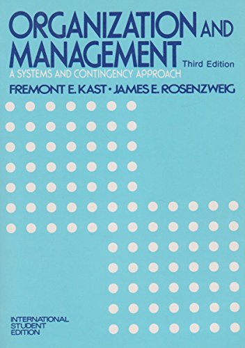 9780070333468: Organization and Management: A Systems and Contingency Approach (McGraw-Hill series in management)