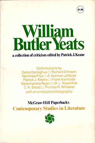 9780070334243: William Butler Yeats: A Collection of Criticism (Contemporary studies in literature)