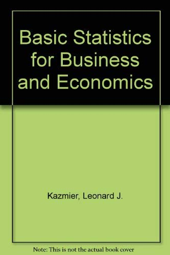9780070334458: Basic Statistics for Business and Economics