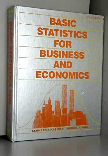 9780070334489: Basic Statistics for Business and Economics