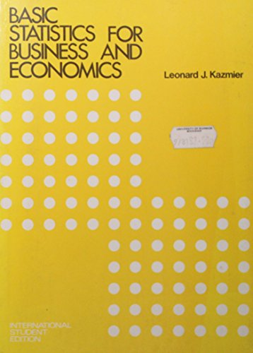 9780070334496: Basic Statistics for Business and Economics: Instructor's Manual