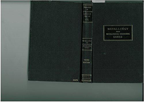 9780070334793: Principles of Metallographic Laboratory Practice (Metallurgy)