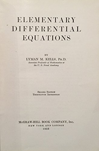 9780070335301: Elementary Differential Equations