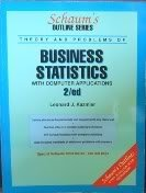9780070335332: Schaum's Outline of Theory and Problems of Business Statistics (Schaum's Outline Series)