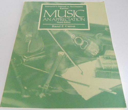 9780070335448: Music: an Appreciation: Instructor's Manual