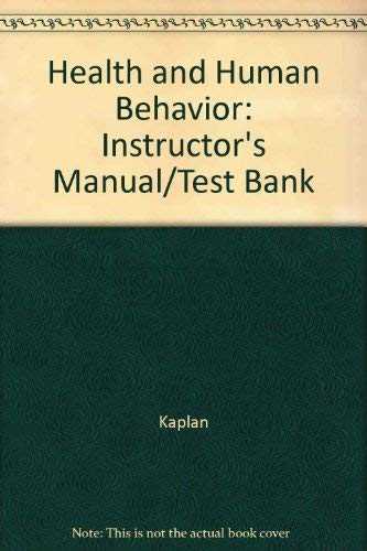 9780070335677: Health and Human Behavior: Instructor's Manual/Test Bank