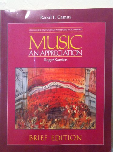9780070336162: Music : An Appreciation (Student Guide and Student Workbook )