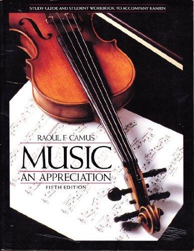 9780070337237: Music: an Appreciation: Study Guide/Workbook