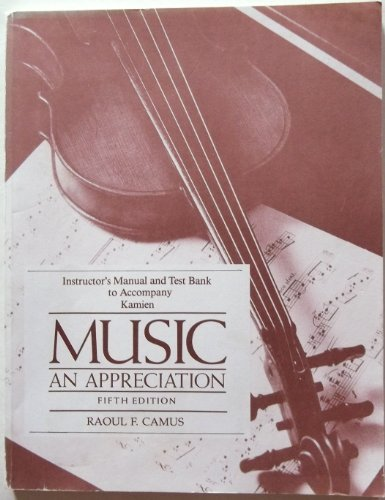 9780070337244: Music: An Appreciation: Instructor's Manual/Test Bank