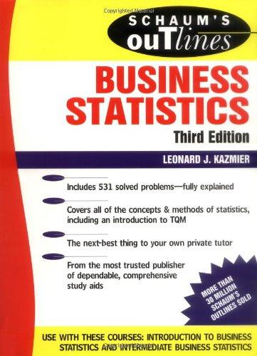 9780070340268: Schaum's Outline of Business Statistics