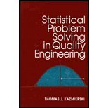 9780070340480: Statistical Problem Solving in Quality Engineering