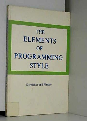 9780070341999: The Elements of Programming Style.