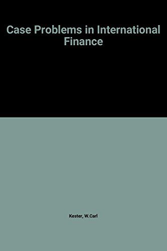 9780070342637: Case Problems In International Finance