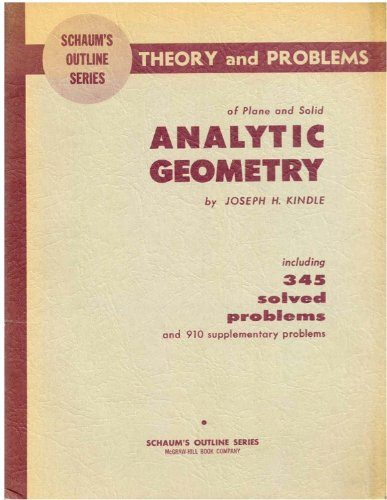 9780070345751: Analytic Geometry (Schaum's Outline)