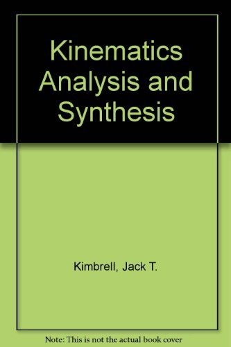 9780070345768: Kinematics Analysis and Synthesis (McGraw-Hill Series in Mechanical Engineering)
