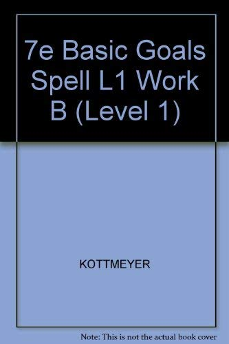 9780070346512: Basic Goals in Spelling