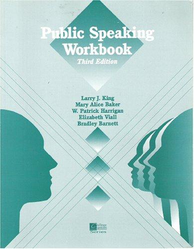 9780070347397: Public Speaking Workbook