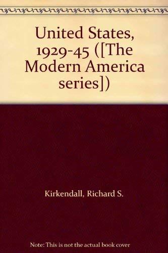9780070348066: United States, 1929-45 ([The Modern America series])