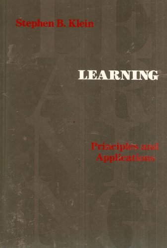9780070350526: Learning: Principles and Applications