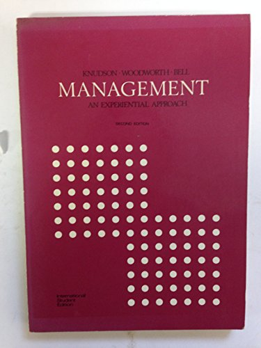 9780070352445: Management: An Experiential Approach: Instructor's Manual (Management)
