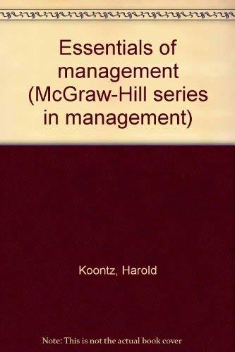9780070353718: Essentials of Management