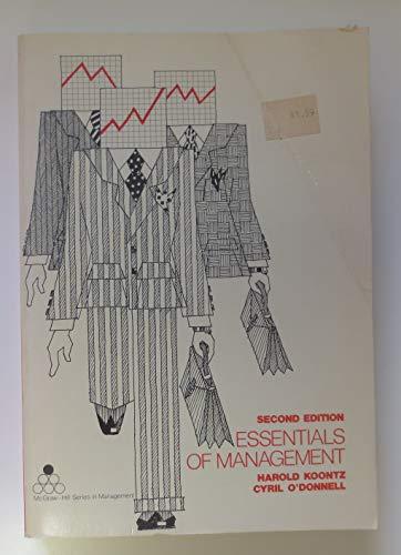 9780070353725: Essentials of management (McGraw-Hill series in management)