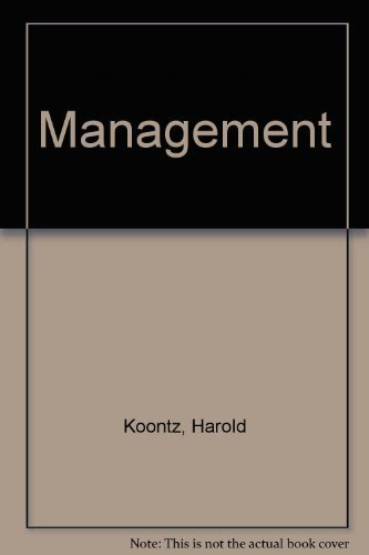 9780070353770: Management (McGraw-Hill series in management)