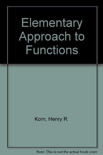 9780070354012: Elementary Approach to Functions