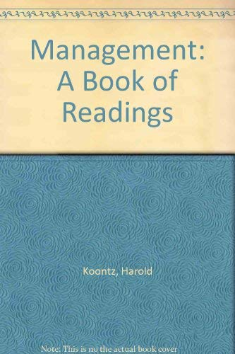 Management: A Book of Readings (Fifth Edition): Koontz, H, O'Donnell,