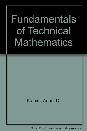 9780070354272: Fundamentals of Technical Mathematics