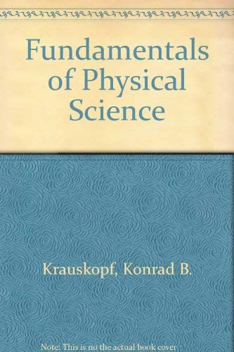 9780070354401: Fundamentals of Physical Science