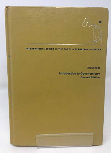 9780070354470: Introduction to Geochemistry (Earth & Planetary Science)