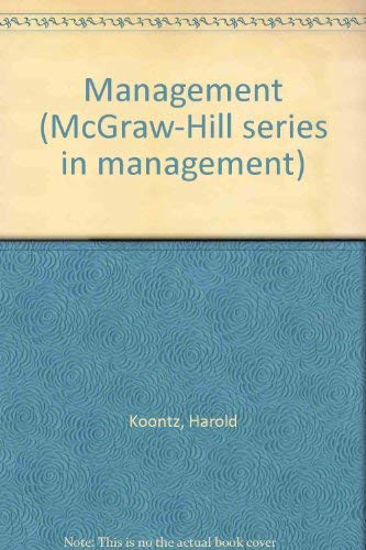 9780070354876: Management (McGraw-Hill series in management)