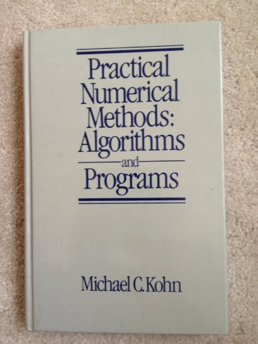 9780070355149: Practical Numerical Methods: Algorithms and Programs