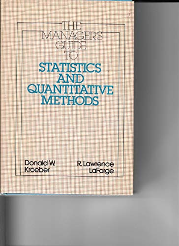 9780070355200: Manager's Guide to Statistics and Quantitative Methods