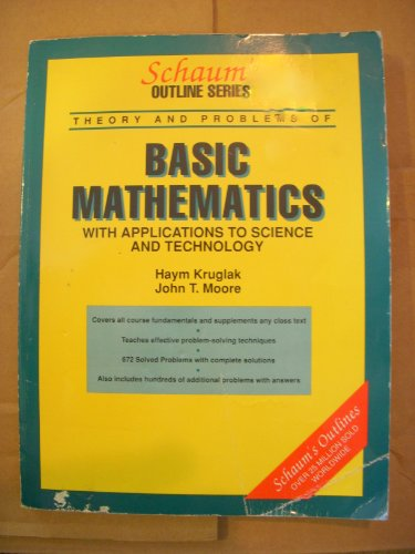 9780070355514: Schaum's Outline of Basic Applied Mathematics