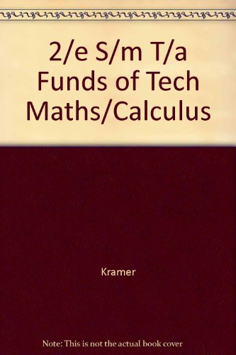 9780070355682: 2/e S/m T/a Funds of Tech Maths/Calculus