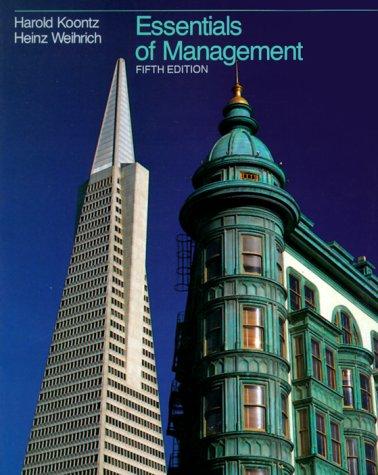 9780070356054: Essentials of Management