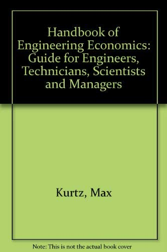 9780070356597: Handbook of Engineering Economics: Guide for Engineers, Technicians, Scientists, and Managers