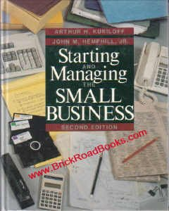 9780070356658: Starting and Managing the Small Business