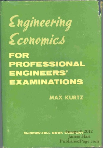 9780070356702: Engineering Economics For Professional Engineers' Examinations