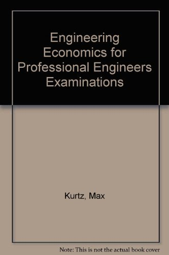 9780070356818: Engineering Economics for Professional Engineers Examinations