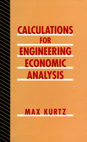 9780070356962: Calculations for Engineering Economic Analysis
