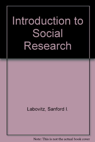 9780070357365: Introduction to Social Research