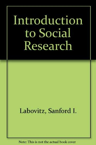 9780070357372: Introduction to Social Research