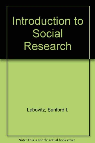 9780070357761: Introduction to Social Research