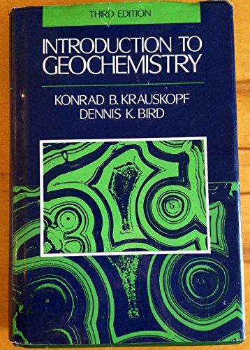 9780070358201: Introduction To Geochemistry - 3rd Edition