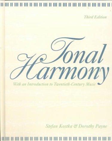 9780070358744: Tonal Harmony: With an Introduction to Twentieth-Century Music