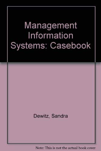 9780070359482: Casebook for Mis, Solving Business Problems With PC Software